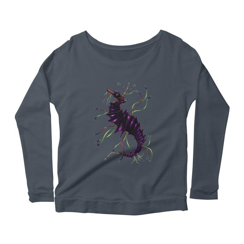Wirey Sea Dragon Women's Scoop Neck Longsleeve T-Shirt by Natalie McKean