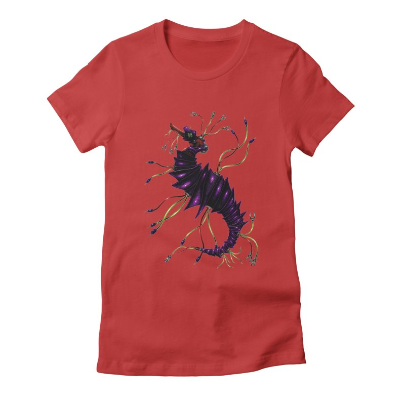 Wirey Sea Dragon Women's Fitted T-Shirt by Natalie McKean