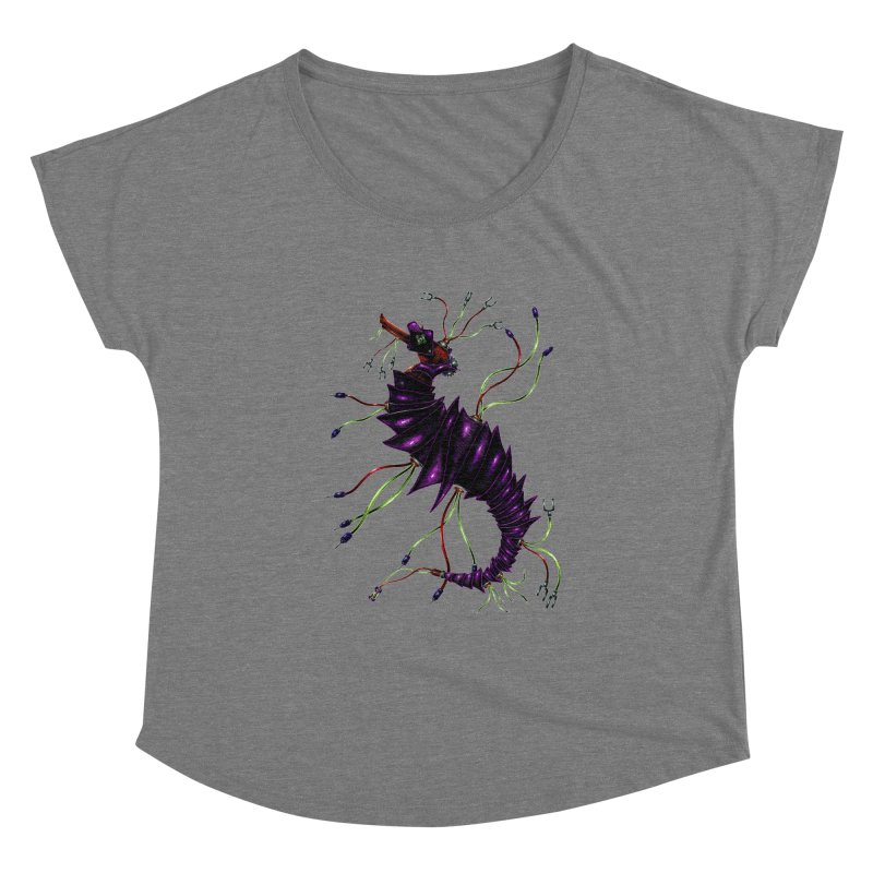 Wirey Sea Dragon Women's Scoop Neck by Natalie McKean