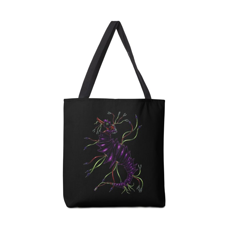 Wirey Sea Dragon Accessories Bag by Natalie McKean