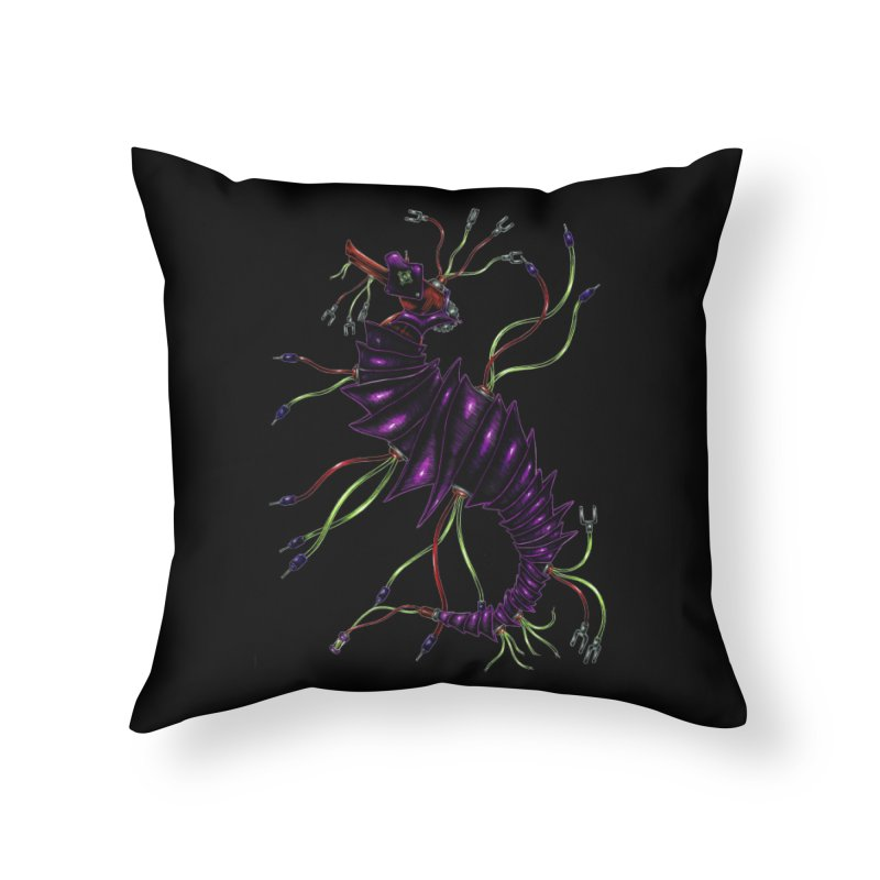 Wirey Sea Dragon Home Throw Pillow by Natalie McKean