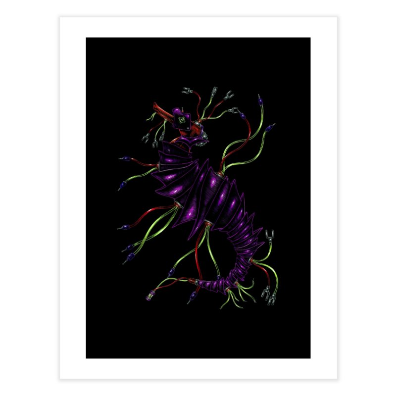 Wirey Sea Dragon Home Fine Art Print by Natalie McKean