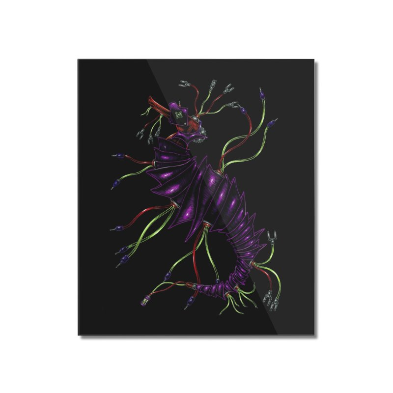 Wirey Sea Dragon Home Mounted Acrylic Print by Natalie McKean