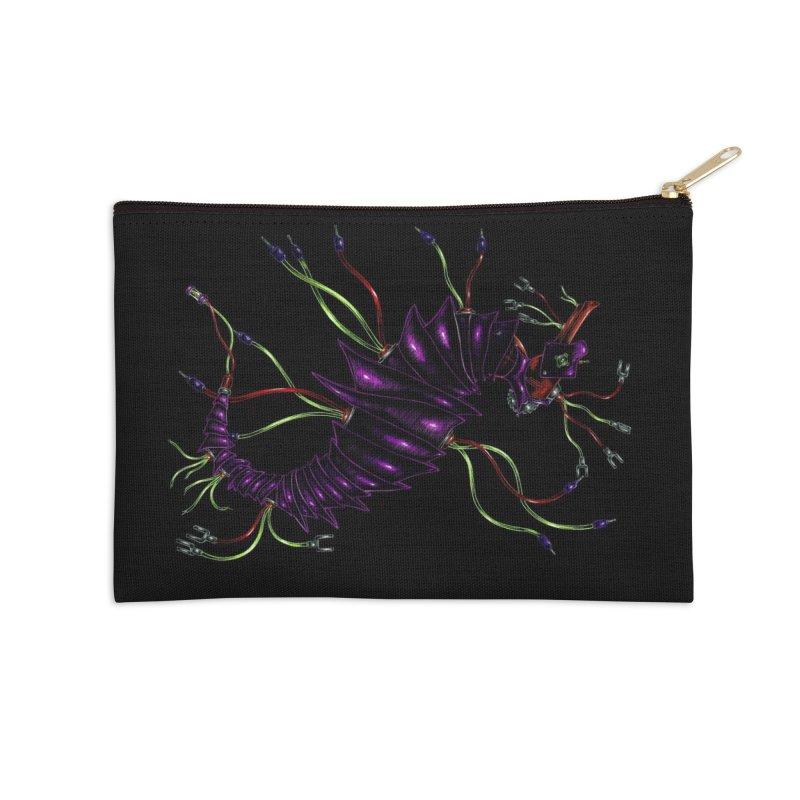 Wirey Sea Dragon Accessories Zip Pouch by Natalie McKean