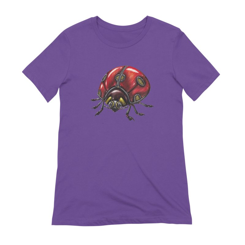 Ladybug Women's Extra Soft T-Shirt by Natalie McKean