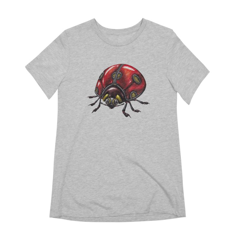 Ladybug Women's Extra Soft T-Shirt by Natalie McKean