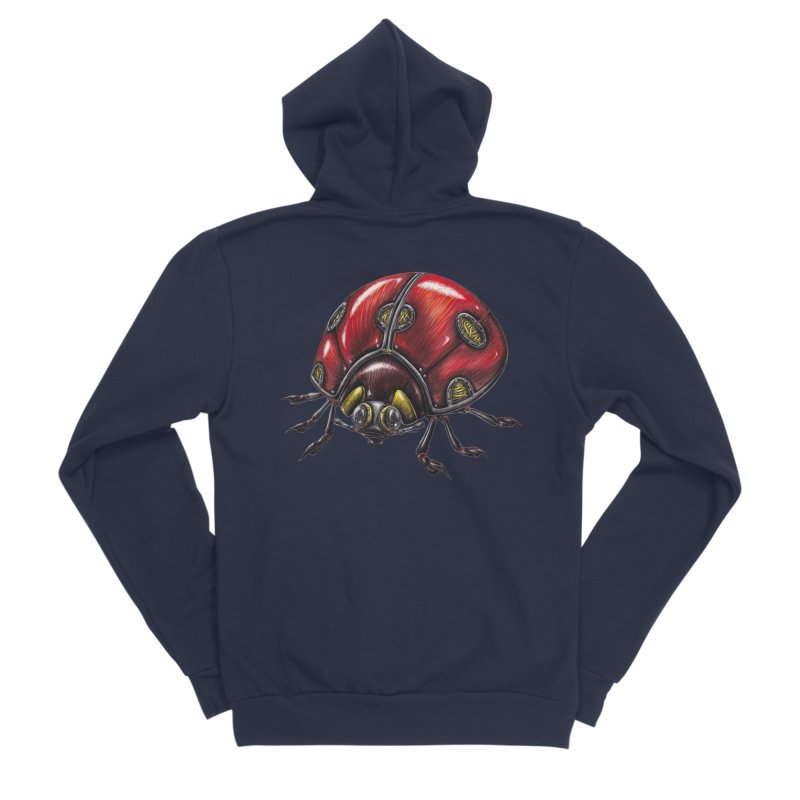 Ladybug Men's Sponge Fleece Zip-Up Hoody by Natalie McKean