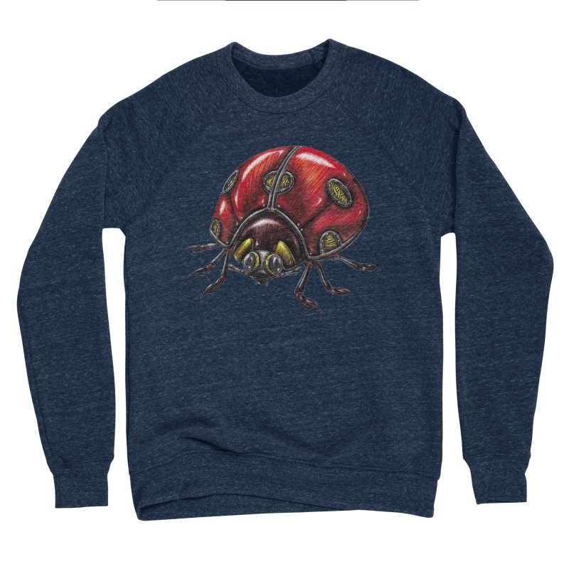 Ladybug Men's Sponge Fleece Sweatshirt by Natalie McKean