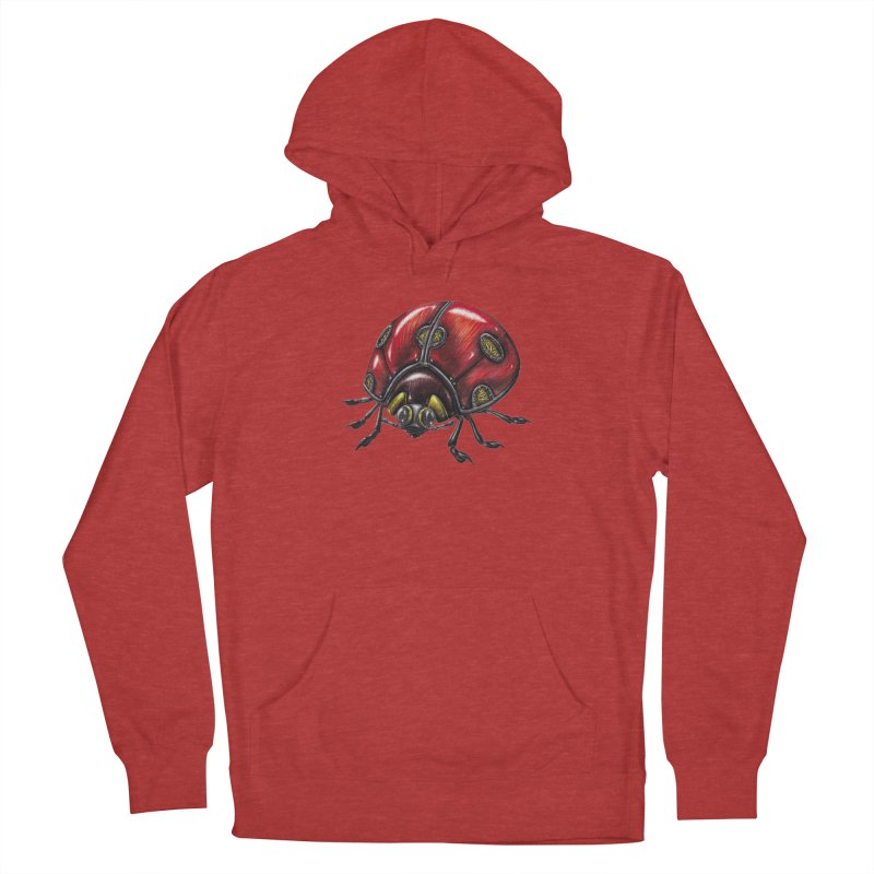 Ladybug Women's French Terry Pullover Hoody by Natalie McKean