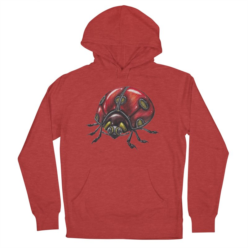 Ladybug Men's French Terry Pullover Hoody by Natalie McKean