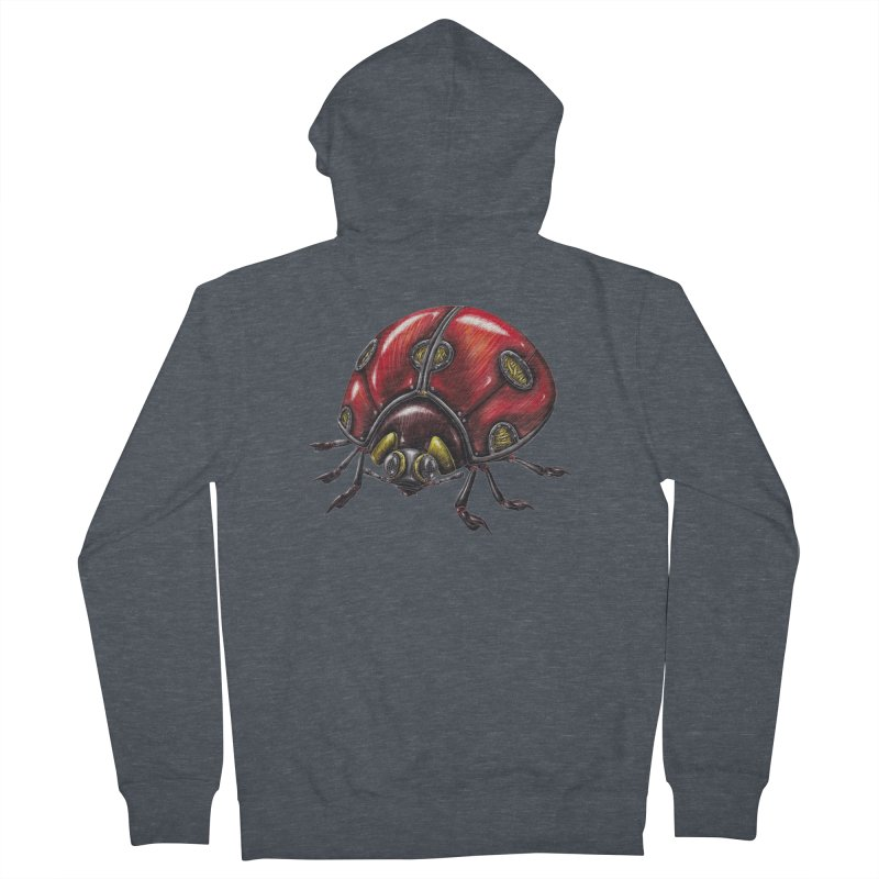 Ladybug Women's French Terry Zip-Up Hoody by Natalie McKean
