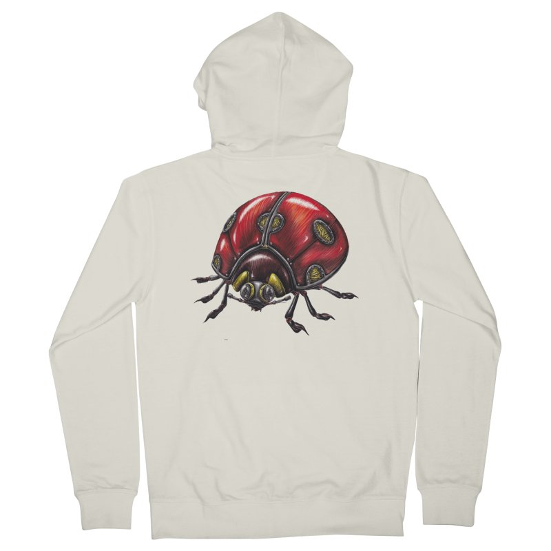 Ladybug Men's French Terry Zip-Up Hoody by Natalie McKean
