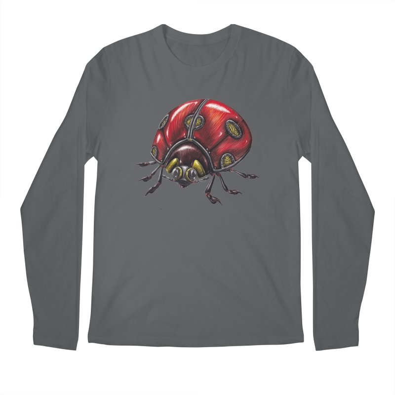 Ladybug Men's Longsleeve T-Shirt by Natalie McKean