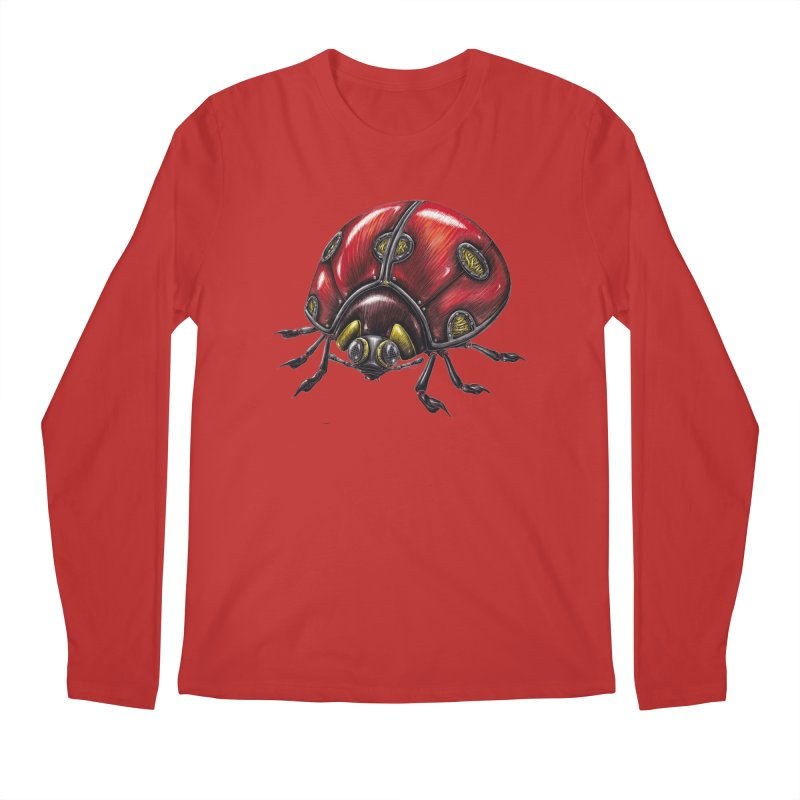 Ladybug Men's Regular Longsleeve T-Shirt by Natalie McKean