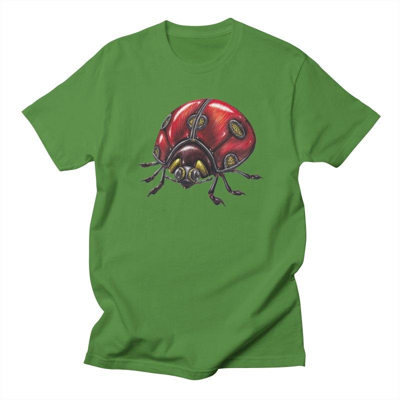 Ladybug Men's Regular T-Shirt by Natalie McKean