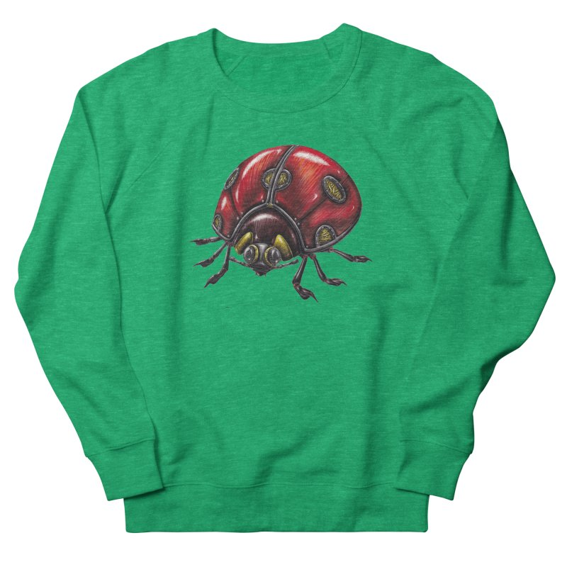 Ladybug Men's French Terry Sweatshirt by Natalie McKean