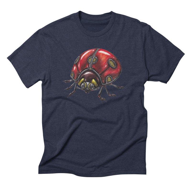 Ladybug Men's Triblend T-Shirt by Natalie McKean