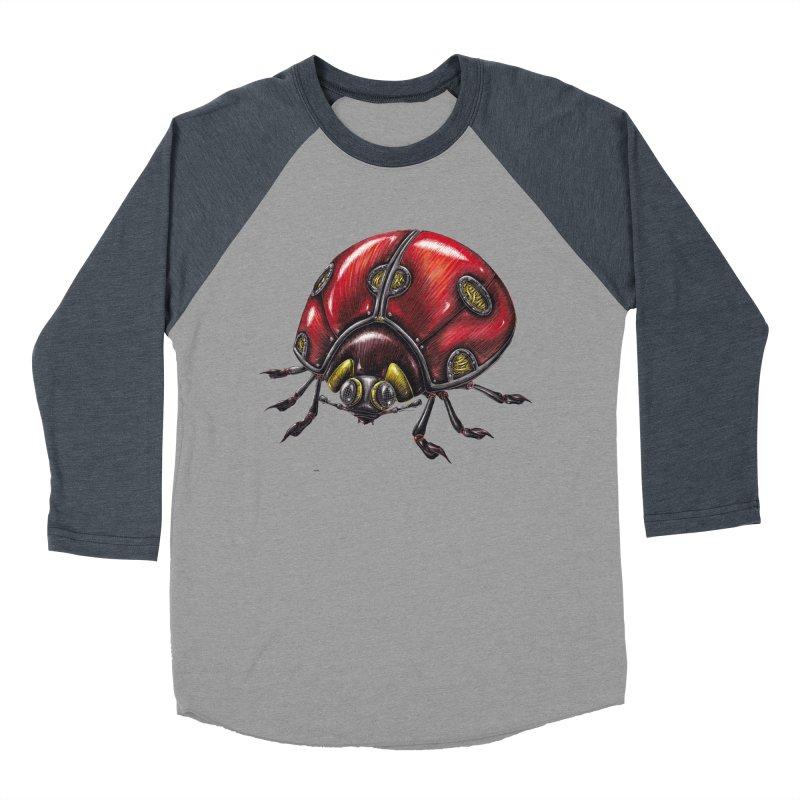 Ladybug Women's Baseball Triblend Longsleeve T-Shirt by Natalie McKean