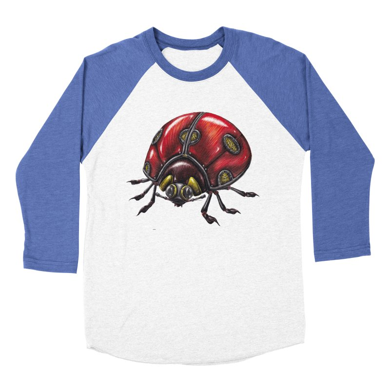 Ladybug Men's Baseball Triblend Longsleeve T-Shirt by Natalie McKean