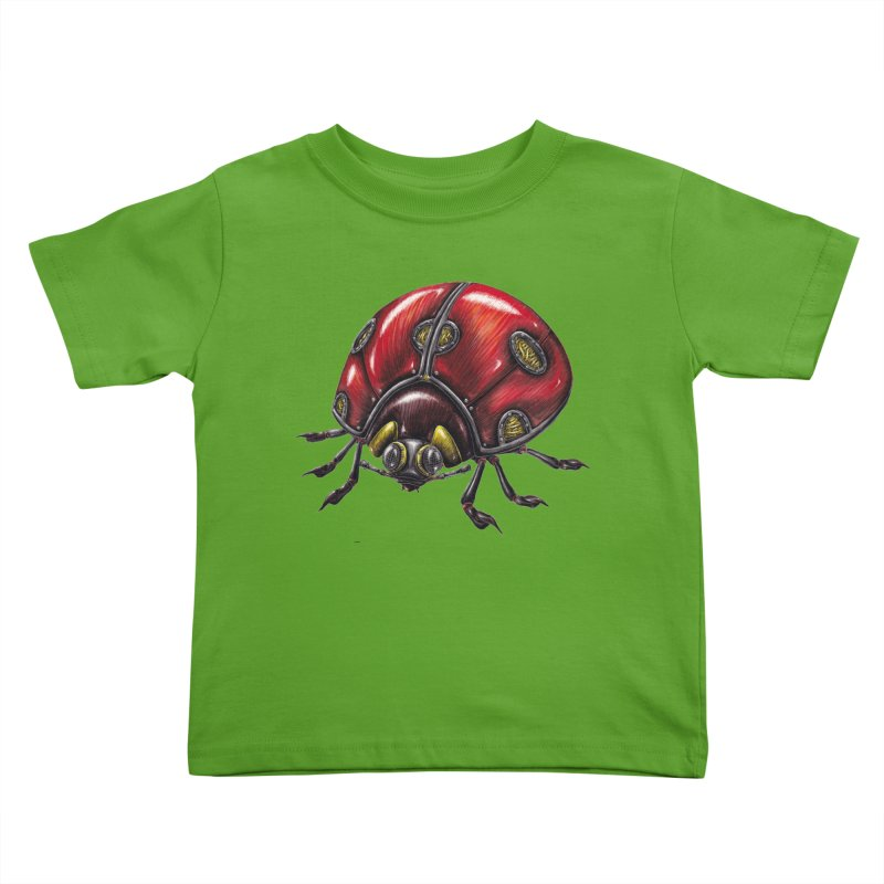 Ladybug Kids Toddler T-Shirt by Natalie McKean