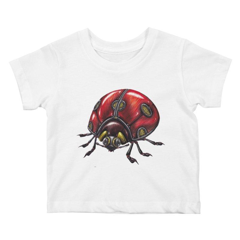 Ladybug Kids Baby T-Shirt by Natalie McKean