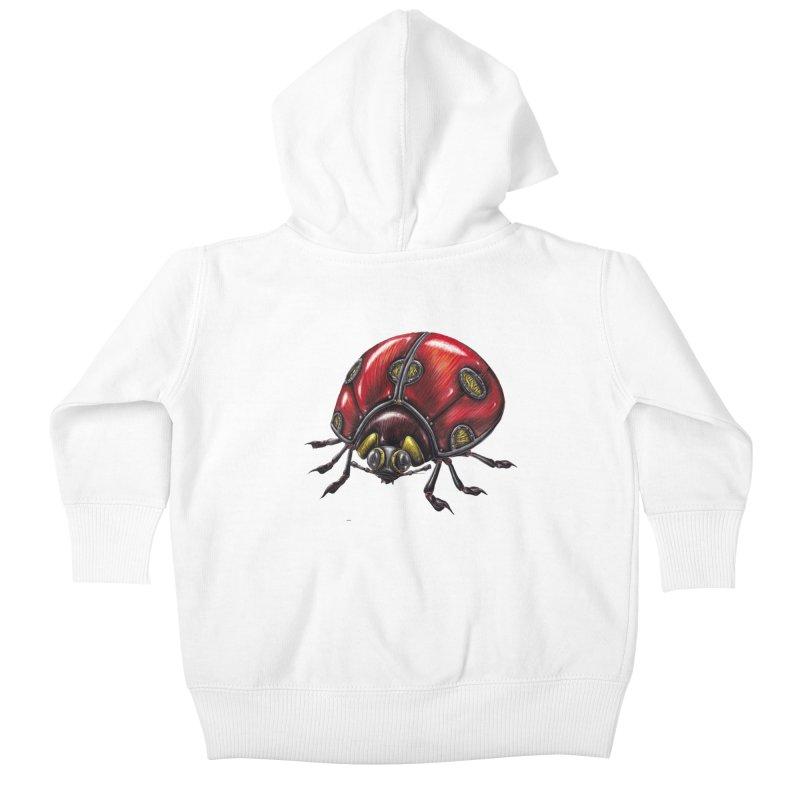 Ladybug Kids Baby Zip-Up Hoody by Natalie McKean