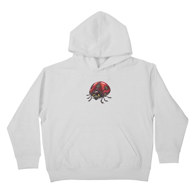 Ladybug Kids Pullover Hoody by Natalie McKean