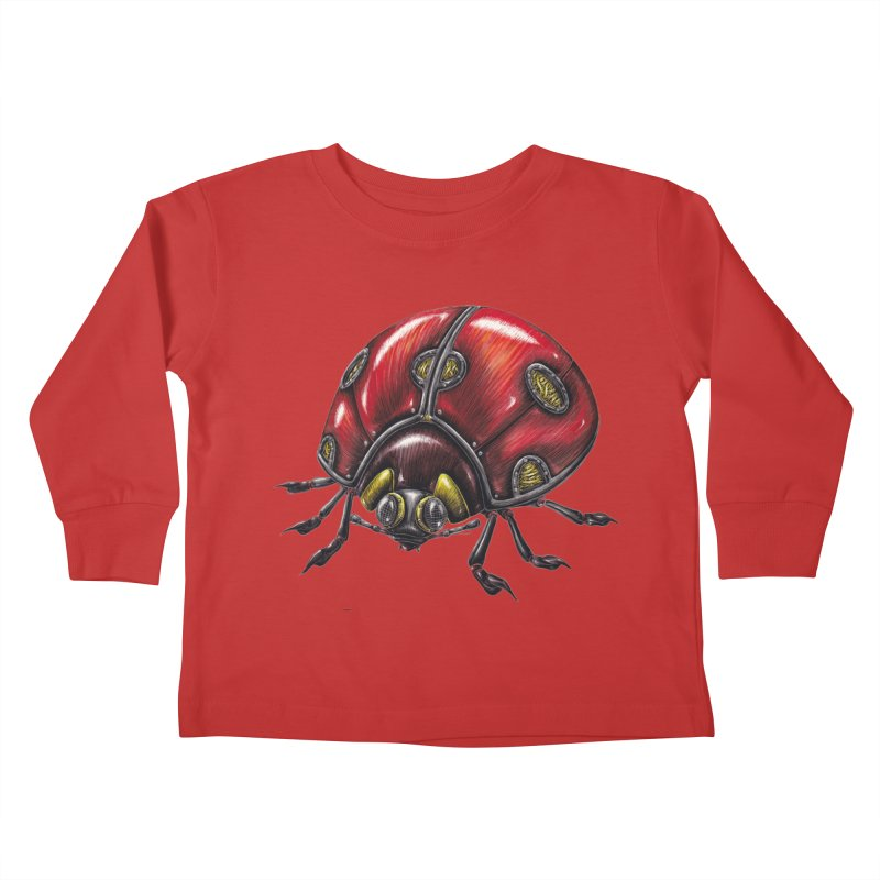 Ladybug Kids Toddler Longsleeve T-Shirt by Natalie McKean