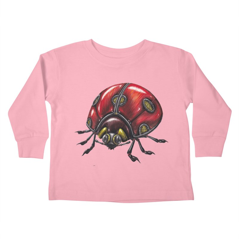 Ladybug Kids Toddler Longsleeve T-Shirt by Natalie McKean