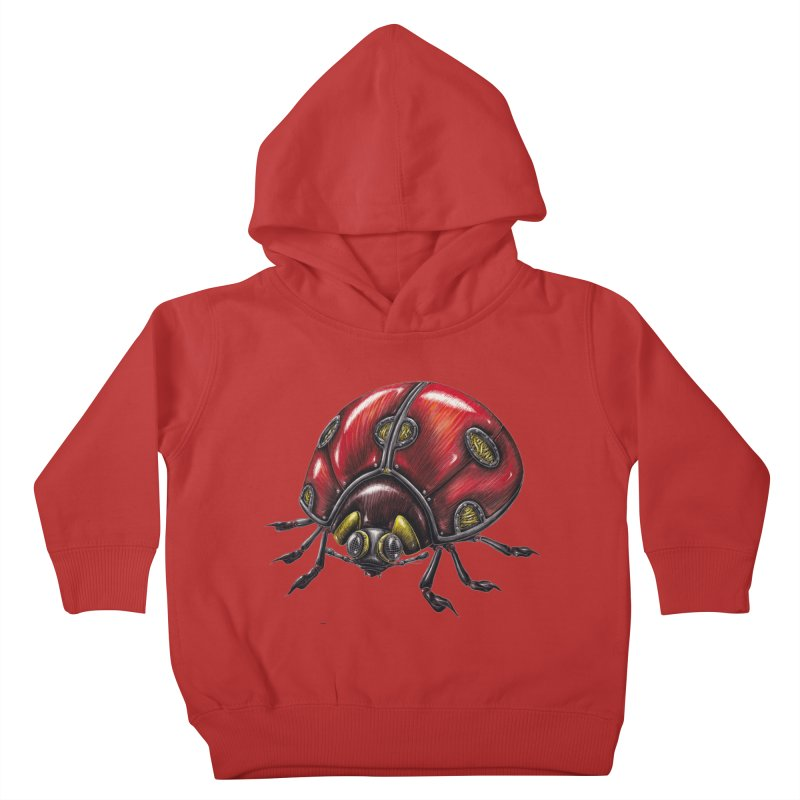 Ladybug Kids Toddler Pullover Hoody by Natalie McKean