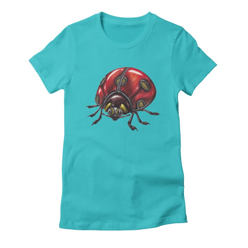 Ladybug Women's Fitted T-Shirt by Natalie McKean