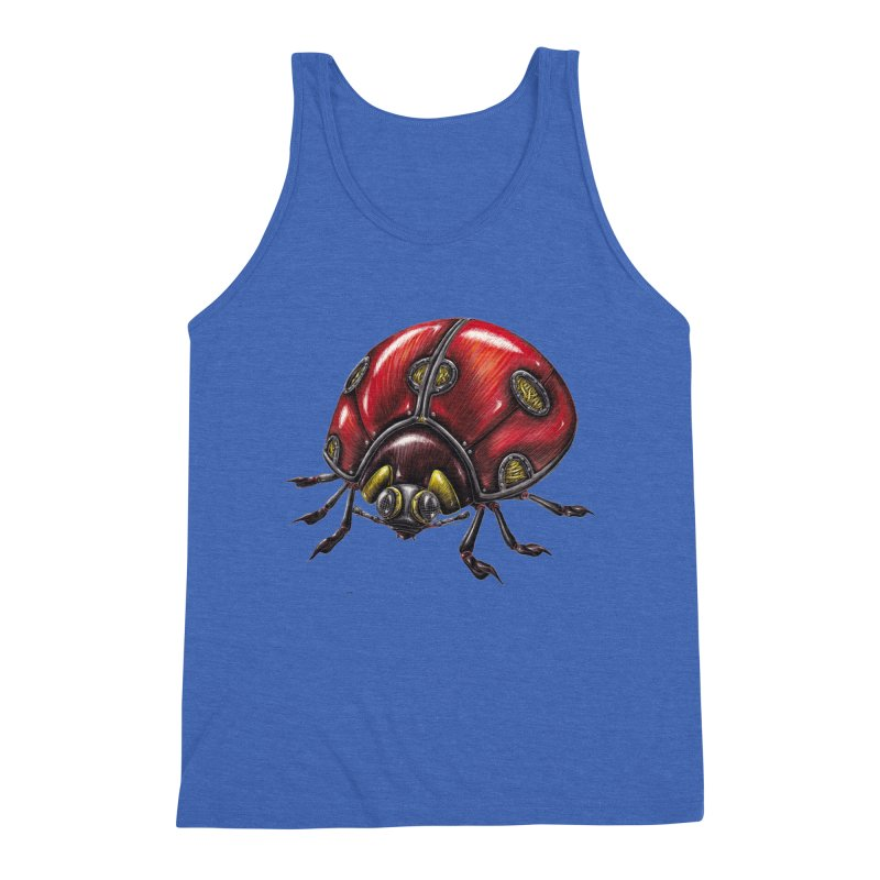 Ladybug Men's Triblend Tank by Natalie McKean
