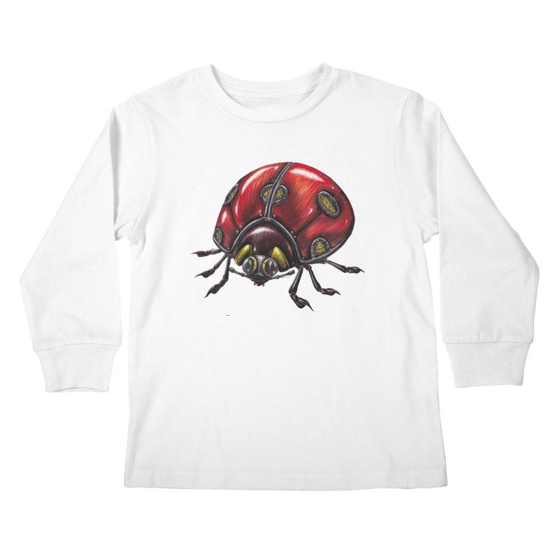 Ladybug Kids Longsleeve T-Shirt by Natalie McKean