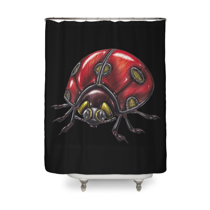 Ladybug Home Shower Curtain by Natalie McKean