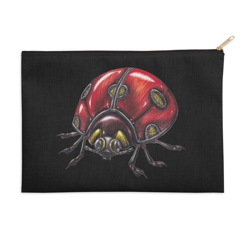 Ladybug Accessories Zip Pouch by Natalie McKean
