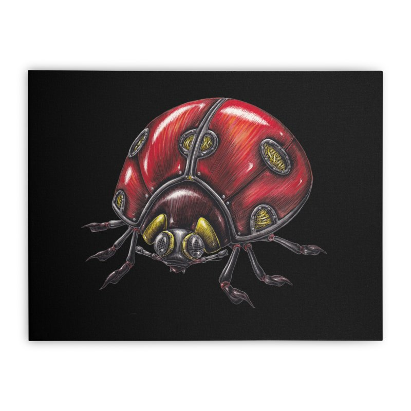 Ladybug Home Stretched Canvas by Natalie McKean