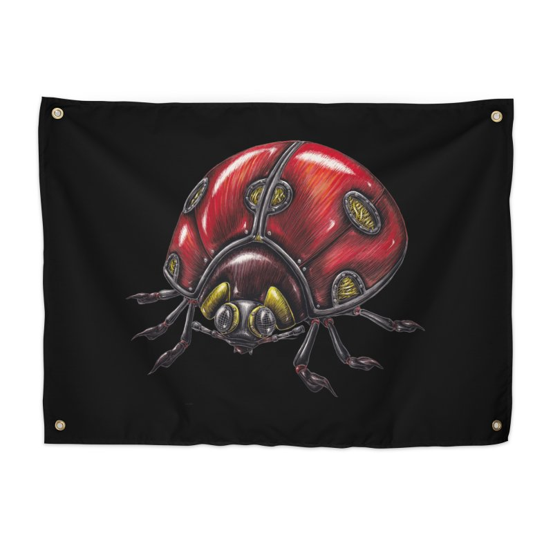 Ladybug Home Tapestry by Natalie McKean