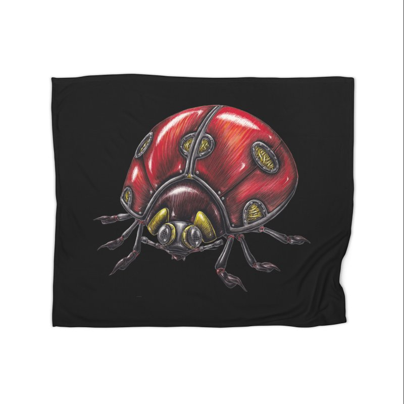 Ladybug Home Fleece Blanket Blanket by Natalie McKean