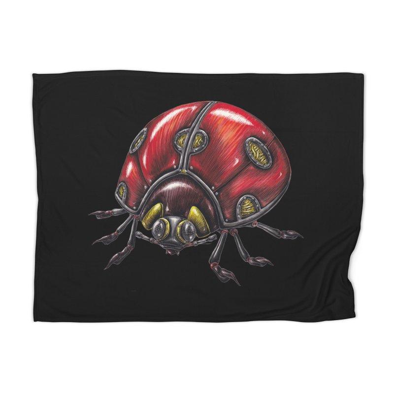 Ladybug Home Blanket by Natalie McKean