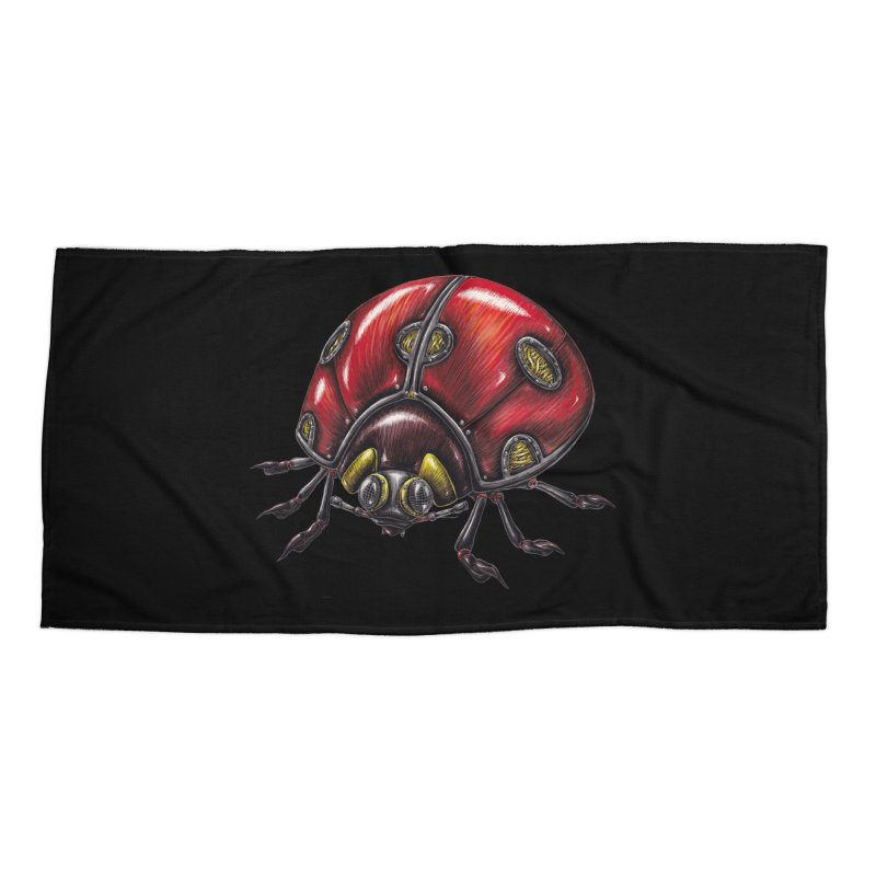 Ladybug Accessories Beach Towel by Natalie McKean