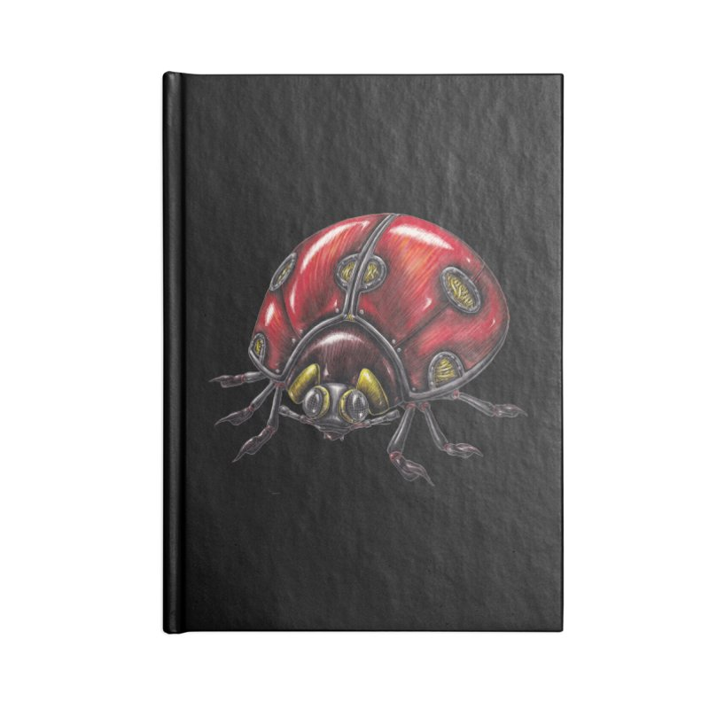 Ladybug Accessories Blank Journal Notebook by Natalie McKean