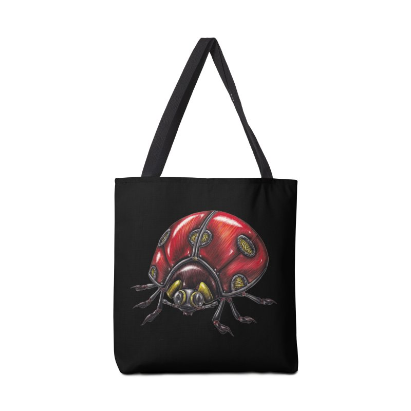 Ladybug Accessories Tote Bag Bag by Natalie McKean