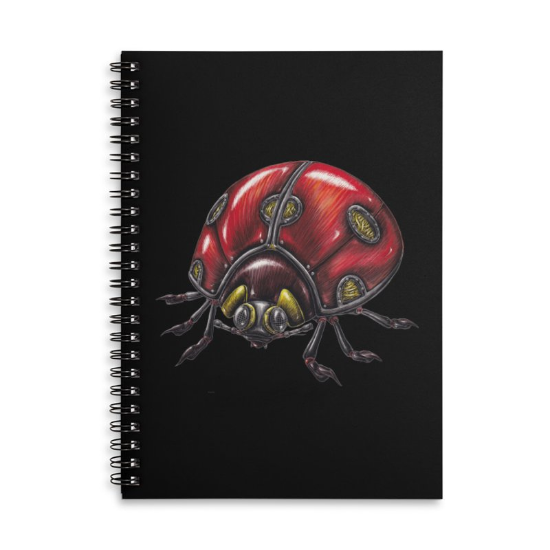 Ladybug Accessories Lined Spiral Notebook by Natalie McKean