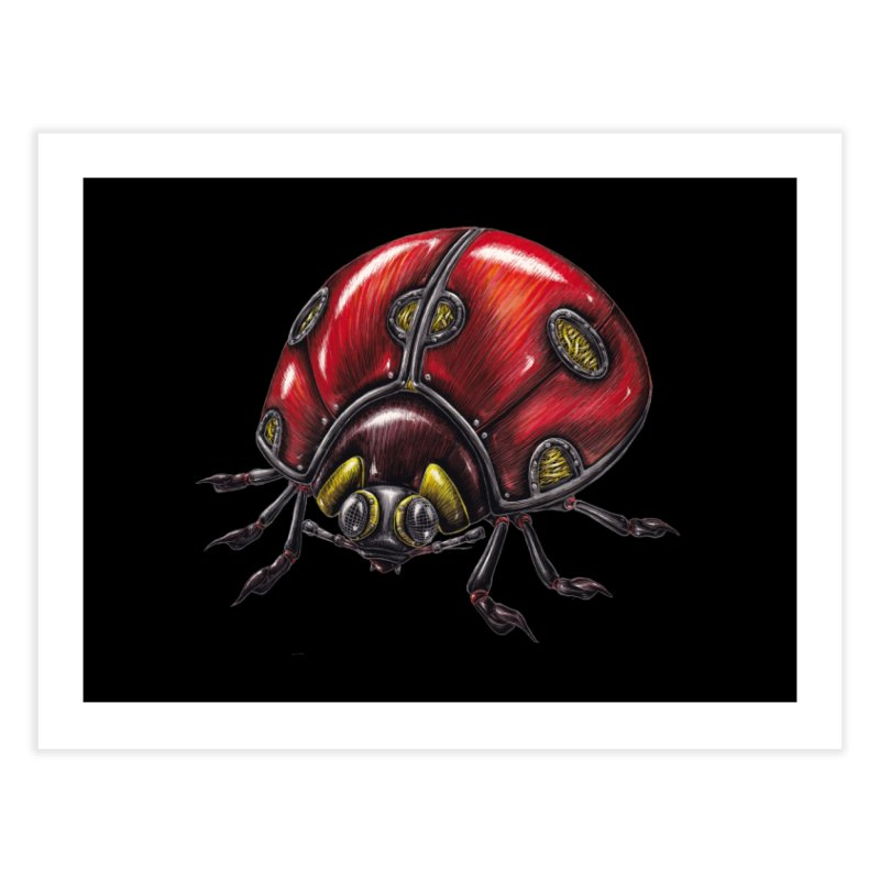 Ladybug Home Fine Art Print by Natalie McKean