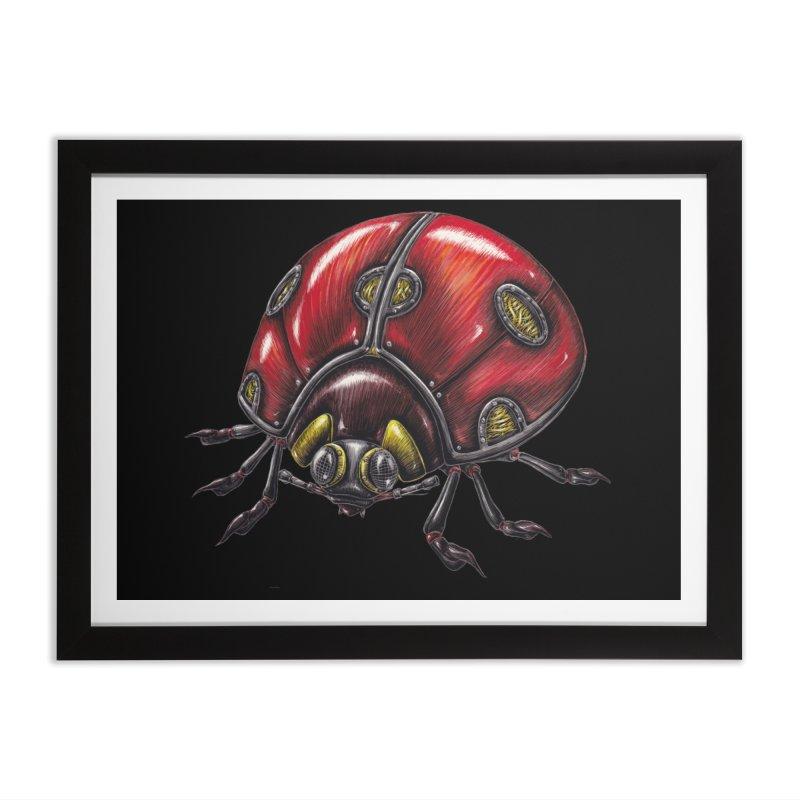 Ladybug Home Framed Fine Art Print by Natalie McKean
