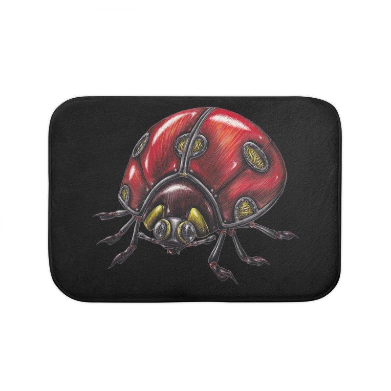 Ladybug Home Bath Mat by Natalie McKean
