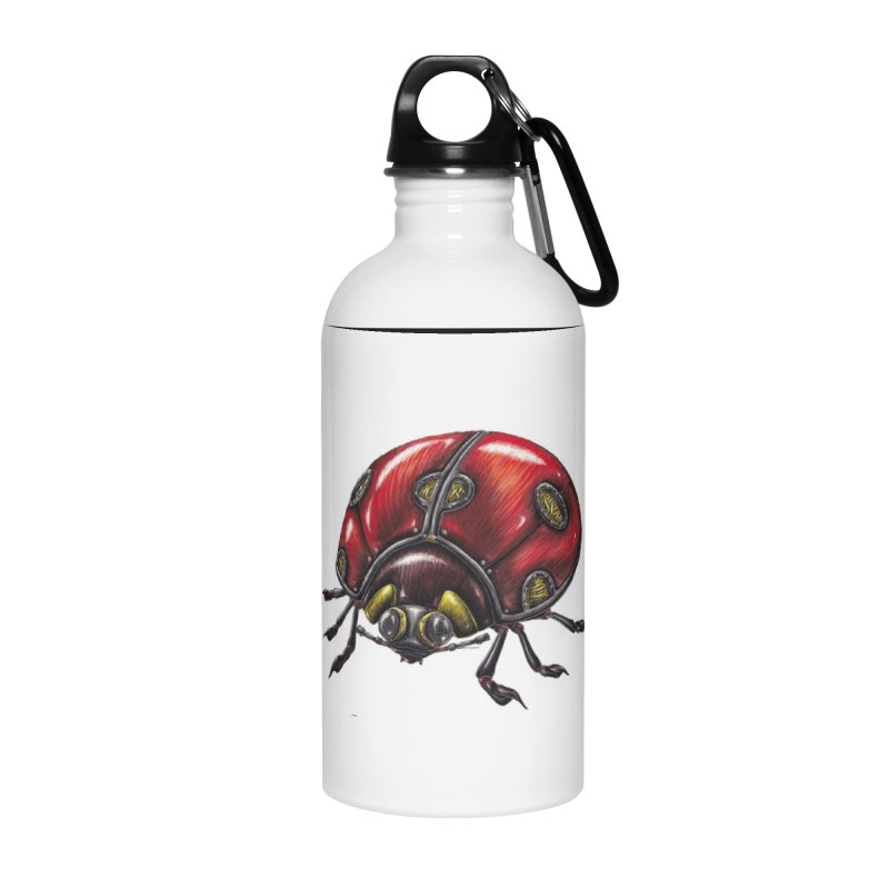 Ladybug Accessories Water Bottle by Natalie McKean