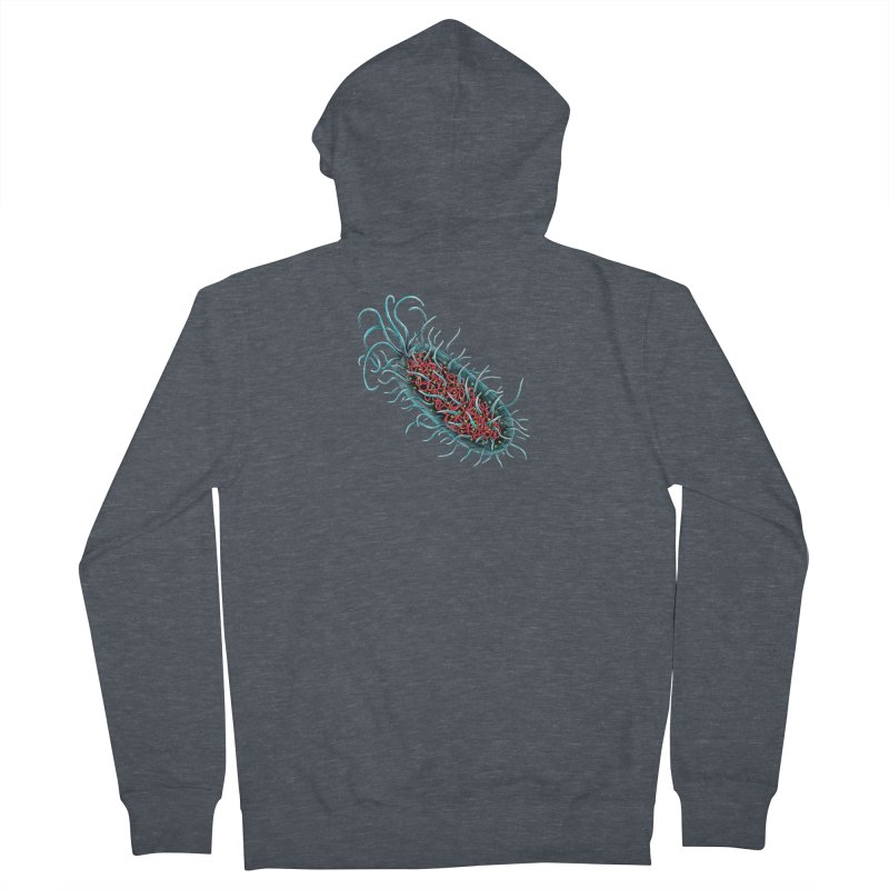 Bacteria Cell Men's French Terry Zip-Up Hoody by Natalie McKean