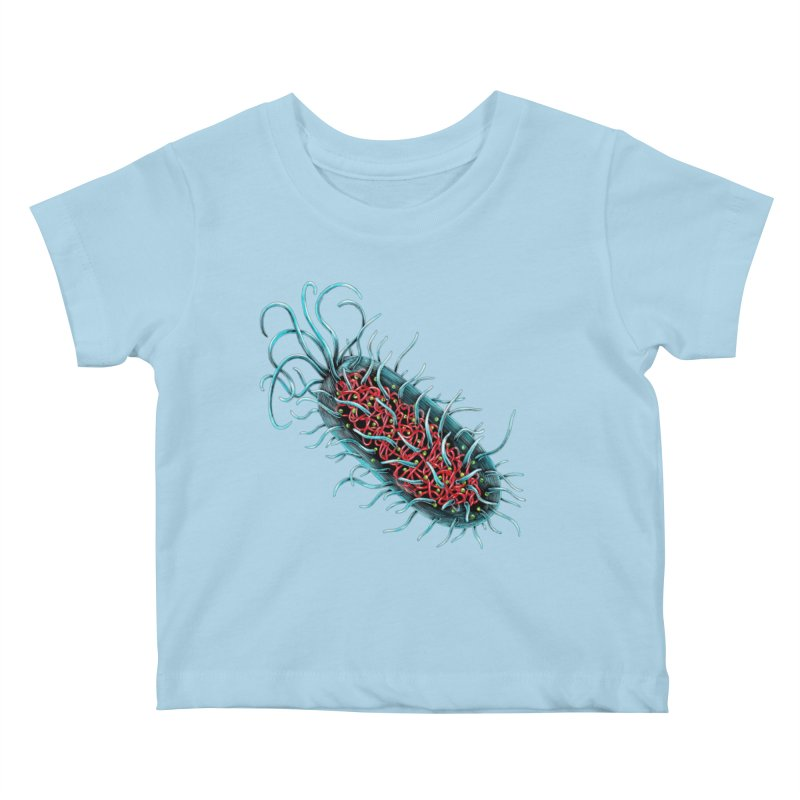 Bacteria Cell Kids Baby T-Shirt by Natalie McKean