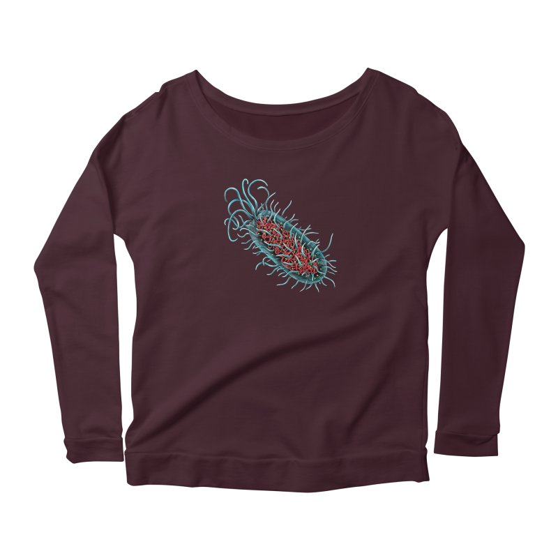 Bacteria Cell Women's Scoop Neck Longsleeve T-Shirt by Natalie McKean